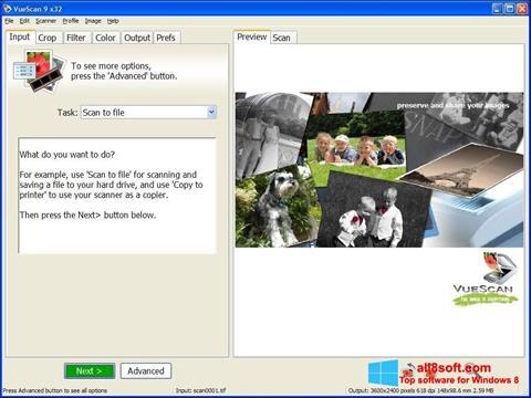 स्क्रीनशॉट VueScan Windows 8