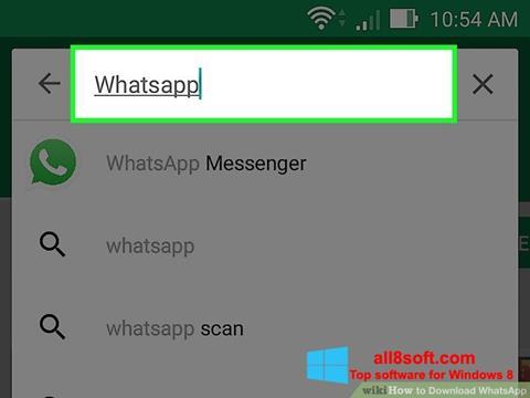 स्क्रीनशॉट WhatsApp Windows 8