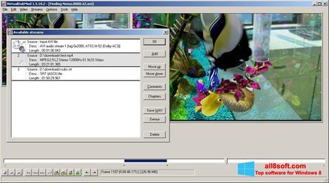 स्क्रीनशॉट VirtualDubMod Windows 8