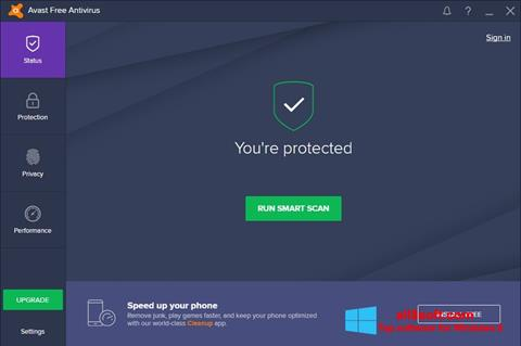 स्क्रीनशॉट Avast Free Antivirus Windows 8
