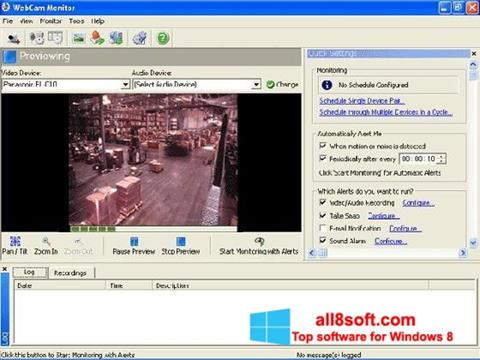स्क्रीनशॉट WebCam Monitor Windows 8