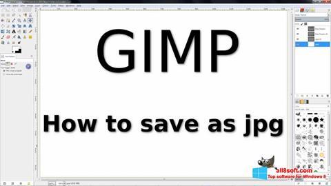 स्क्रीनशॉट GIMP Windows 8