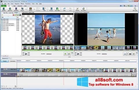 स्क्रीनशॉट VideoPad Video Editor Windows 8