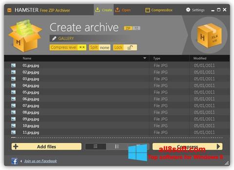 स्क्रीनशॉट Hamster Free ZIP Archiver Windows 8