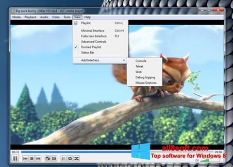 स्क्रीनशॉट VLC Media Player Windows 8
