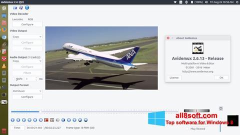 स्क्रीनशॉट Avidemux Windows 8